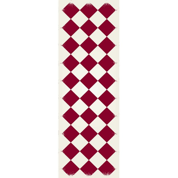Welty Diamond European Design Red/White Indoor/Outdoor Area Rug by Winston Porter