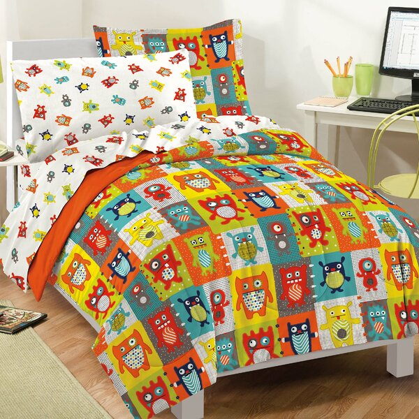 Silly Monsters Comforter Set by Dream Factory