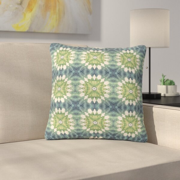 Art Love Passion Forest Leaves Pattern Geometric Outdoor Throw Pillow by East Urban Home