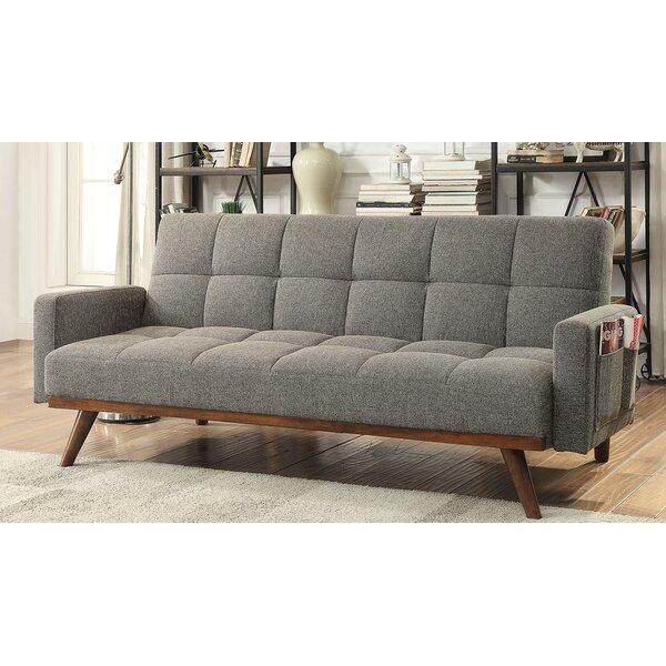 Hawkinsville Tufted Futon Arm Sofa by Ebern Designs