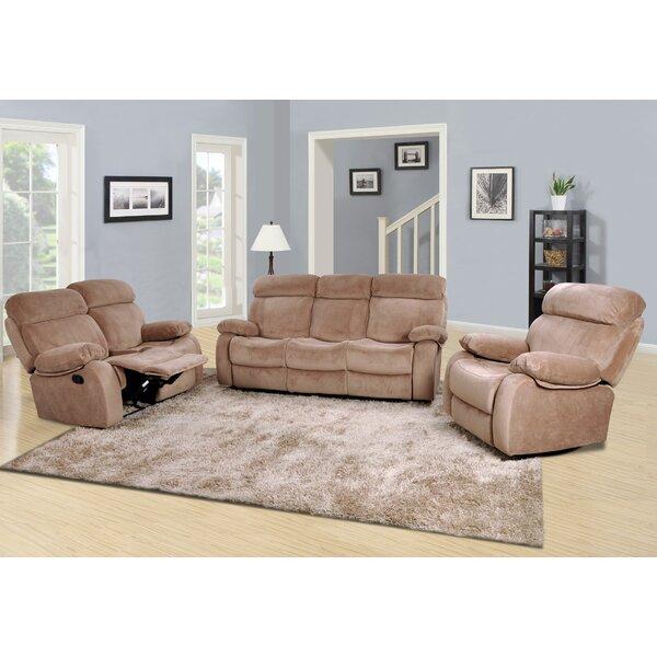 #1 Meniru Reclining 3 Piece Living Room Set By Red Barrel Studio Savings