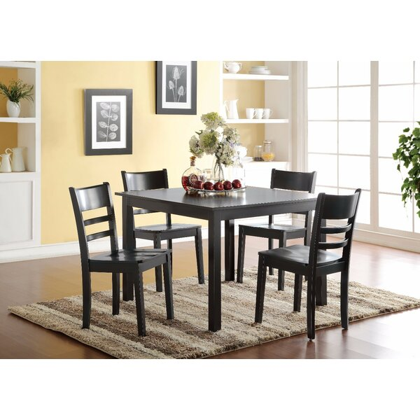 Prado 5 Piece Solid Wood Dining Set by Winston Porter
