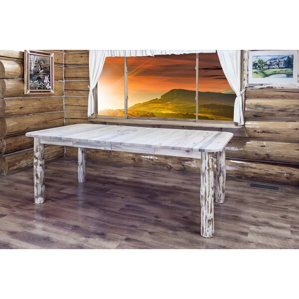 Tustin 4 Post Extendable Solid Wood Dining Table by Loon Peak