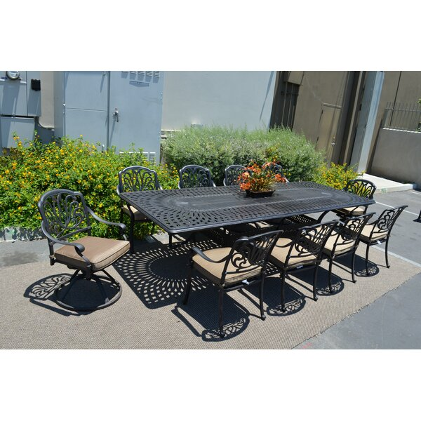 Kristy 11 Piece Dining Set with Cushion by Darby Home Co