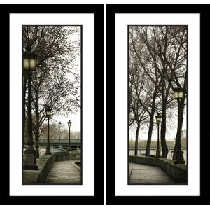 'Along the Quai' 2 Piece Framed Photographic Print Set by Red Barrel Studio