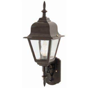 Reviews Lyndon 1-Light Outdoor Sconce By Charlton Home