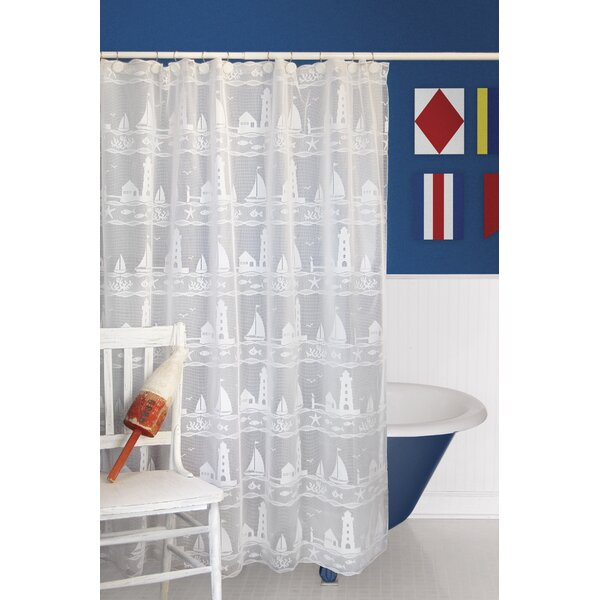 Harbor Lights Polyester Shower Curtain by Heritage Lace