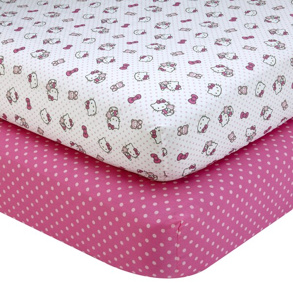 Hello Kitty Cute As A Button Fitted Crib Sheets Wayfair