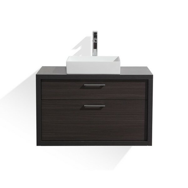 Boutin 36 Wall-Mounted Single Bathroom Vanity Set by Wrought Studio