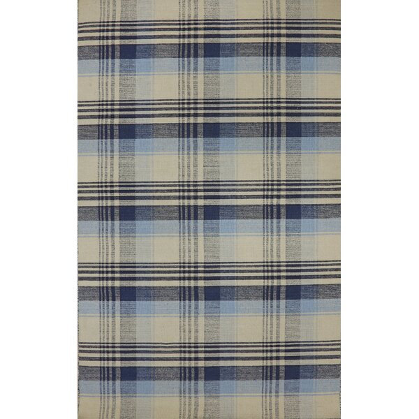 Pickering Hand Woven Wool Beige/Blue Area Rug by August Grove