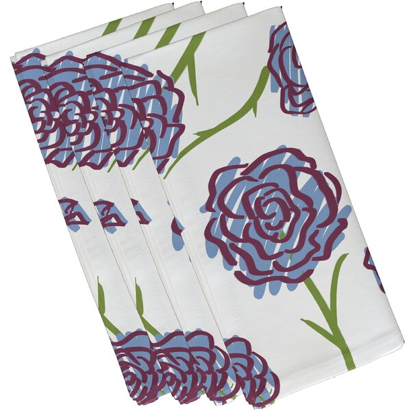 Jorden Spring Floral 1 Print Napkin (Set of 4) by Latitude Run