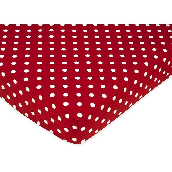 Little Ladybug Polka Dot Fitted Crib Sheet by Sweet Jojo Designs