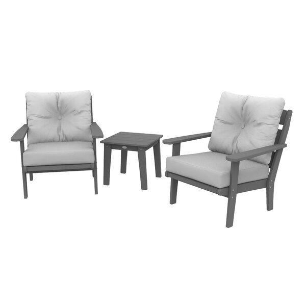 POLYWOOD® Modern 3 Piece Seating Group with Cushions