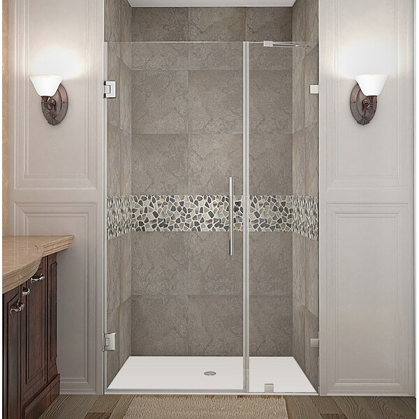 Nautis 40 x 72 Hinged Completely Frameless Shower Door by Aston