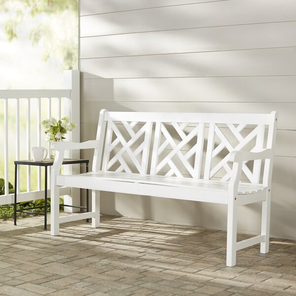 Mahler Acacia Wood Garden Bench by Darby Home Co