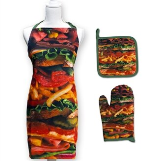 Snack Stack 3 Piece Apron Set by Ebern Designs