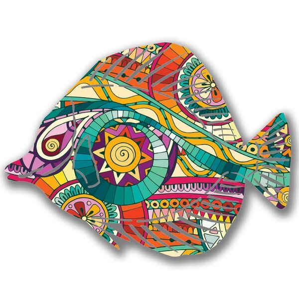 Steel Fantasia Angel Fish 3D Wall Decor by Bay Isle Home