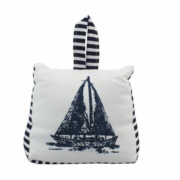 Sailboat Sandbag Door Stop by Handcrafted Nautical Decor