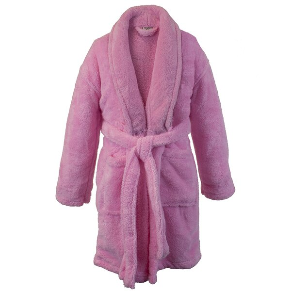 Basel Kids Shawl Fleece Bathrobe by Harriet Bee