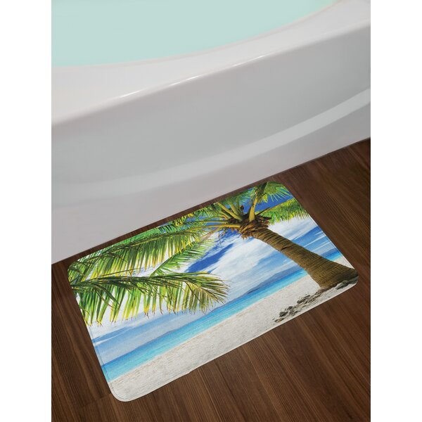 Lonely Palm Tree Bath Rug by East Urban Home