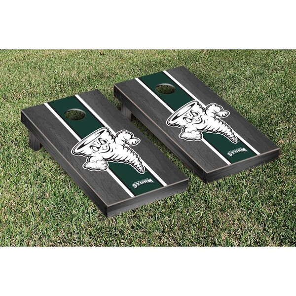 NCAA Lake Erie LEC Storm Stained Version Cornhole Game Set by Victory Tailgate