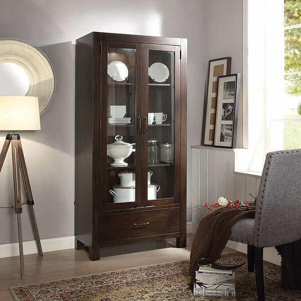 Charo Wooden Lighted Curio Cabinet by Gracie Oaks