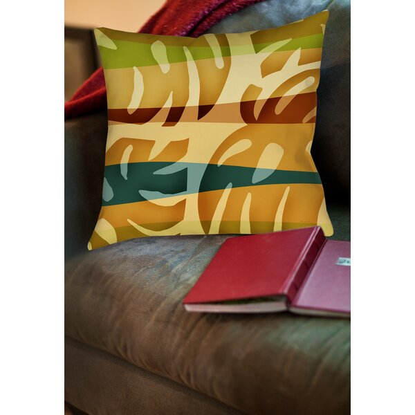 Tropical Leaf 1 Printed Throw Pillow by Manual Woodworkers & Weavers