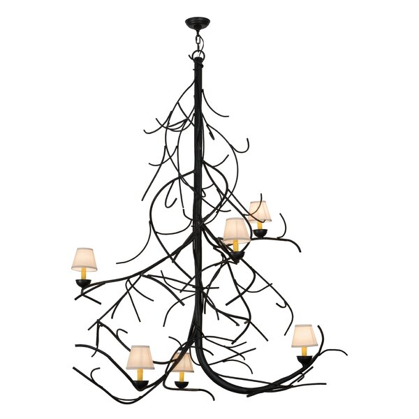 Collings 6 - Light Unique / Statement Tiered Chandelier By Loon Peak