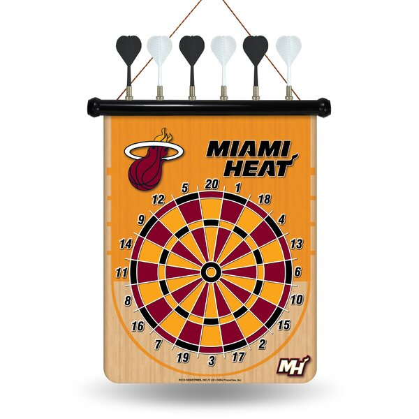 NBA Magnetic Dartboard Set by Rico Industries Inc