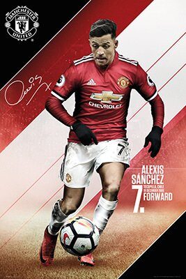Alexis Sanchez Graphic Art Print by Frame USA