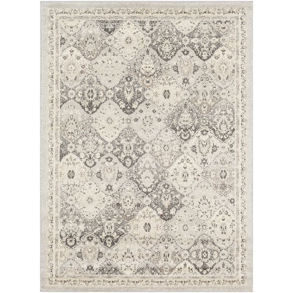 Berry Medallion Beige/Gray Area Rug by Bungalow Rose