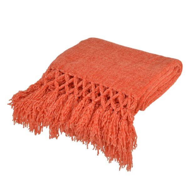 Hemphill Crochet Fringe Throw by Bungalow Rose
