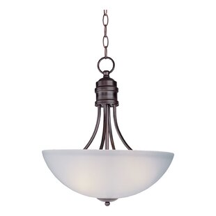 Great Price Garfield 3-Light Bowl Pendant By Charlton Home