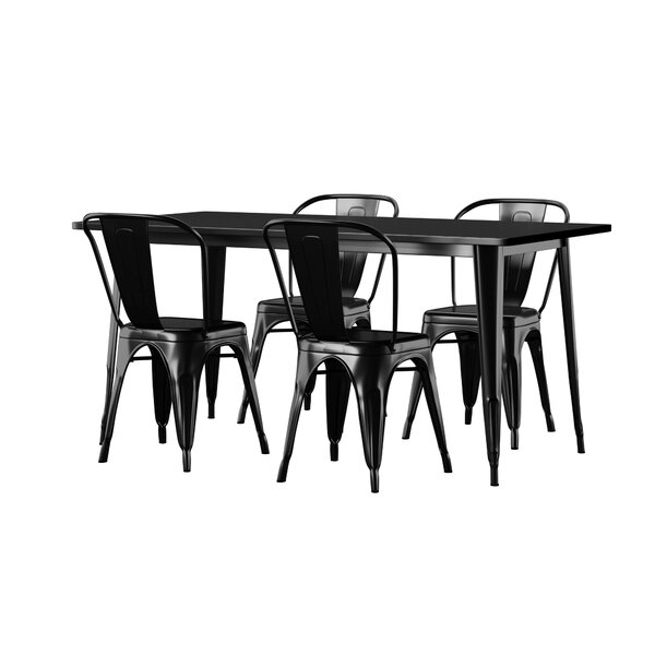 Corrado 5 Piece Dining Set by Mercury Row Mercury Row