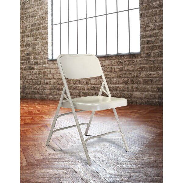 300 Series Triple Brace Steel Folding Chair (Set of 4) by National Public Seating