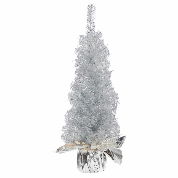24 Silver Pine Artificial Christmas Tree with Stand by The Holiday Aisle