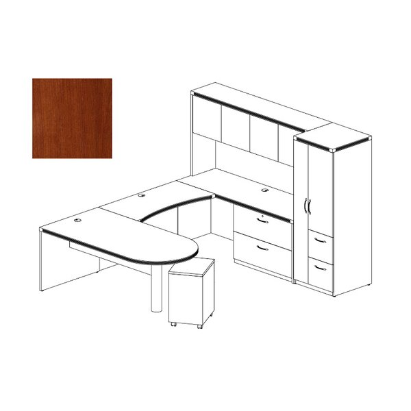 Aberdeen 4-Piece Series U-Shape Desk Office Suite by Mayline Group