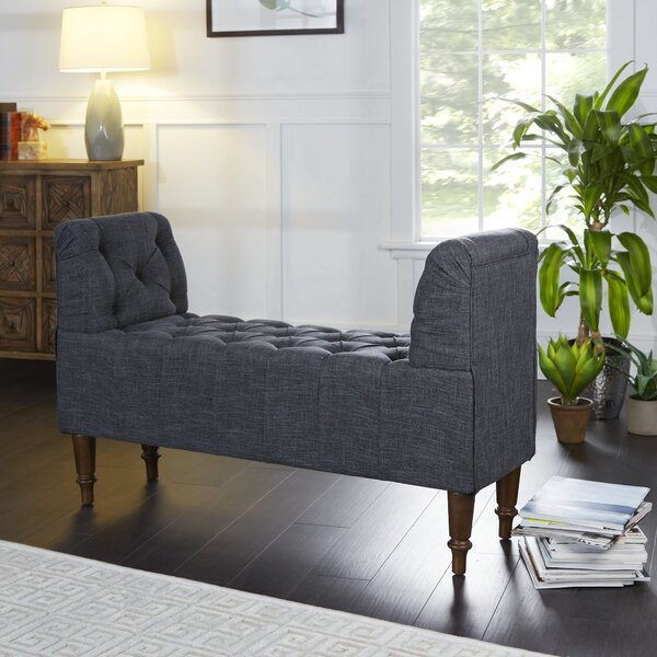 Lorelei Farmhouse Upholstered Bench by One Allium Way