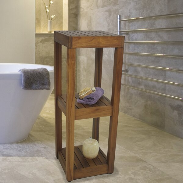 12 W x 33.25 H Bathroom Shelf by Aqua Teak