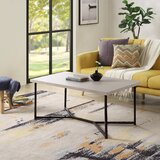 Abagale Cross Legs Coffee Table by Latitude Run