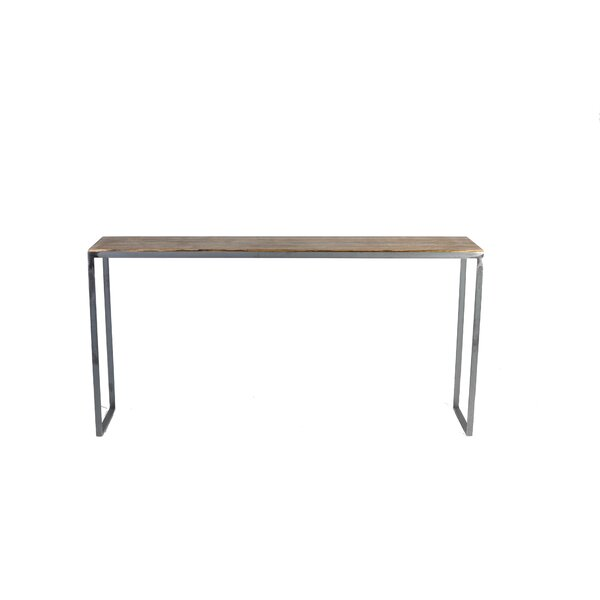 Madhav Solid Steel Console Table by 17 Stories