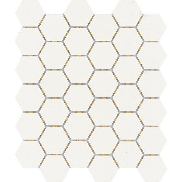 Zone Hex 2 x 2 Porcelain Mosaic Tile in Matte White by Emser Tile