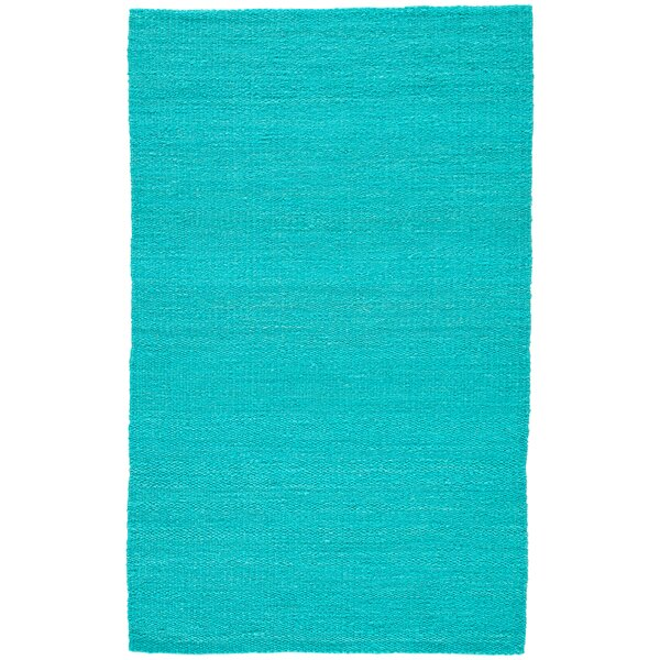 Quito Hand Woven Turquose Area Rug by Highland Dunes