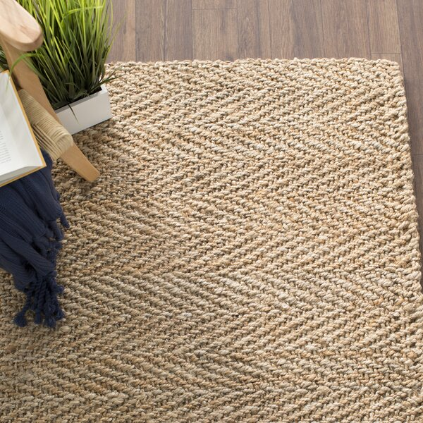 Claudette Fiber Hand-Woven Natural Area Rug by Beachcrest Home