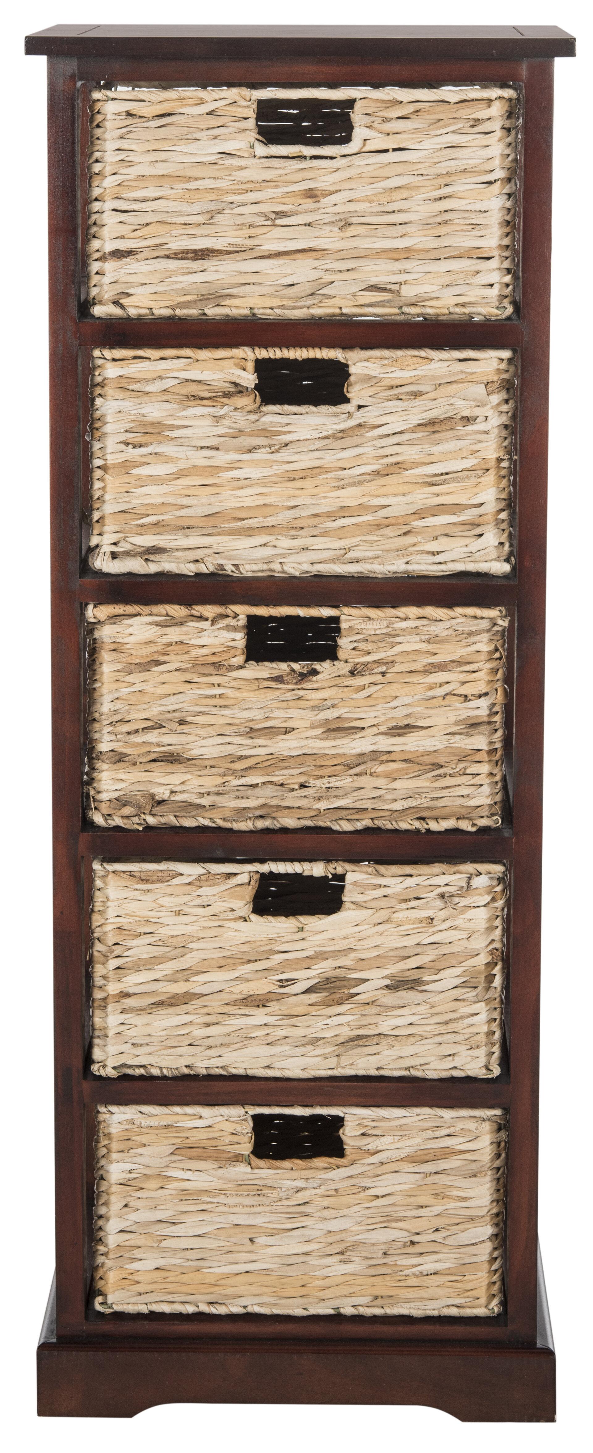 Beachcrest Home Vedette 5 Basket Storage Chest U0026 Reviews | Wayfair