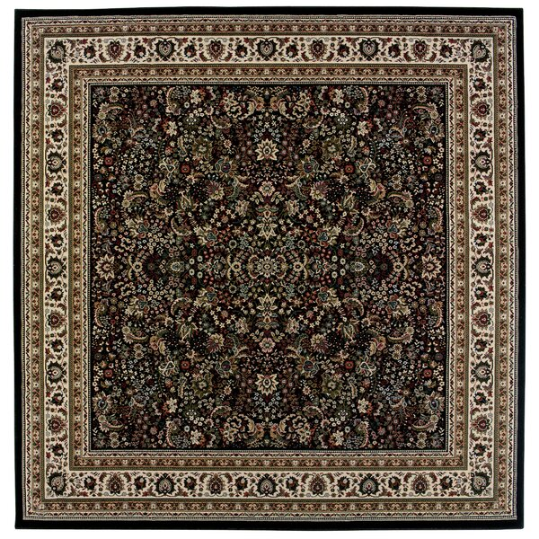 Shelburne Traditional Black/Ivory Area Rug by Astoria Grand