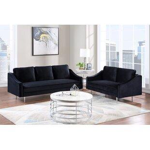 Aliaa 2 Piece Velvet Living Room Set by Orren Ellis