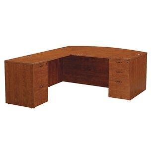 Blairview L-Shape Bow Top Desk