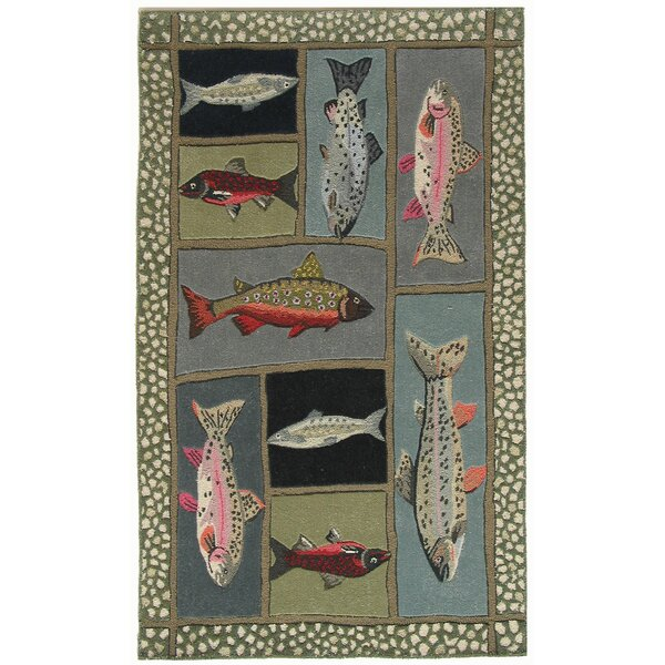 Marshall Mountain Trout Area Rug by Loon Peak