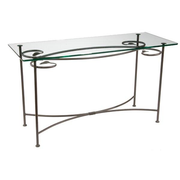 Fleur De Lis Living Black Console Tables